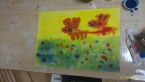 Dipingere con i propri bambini