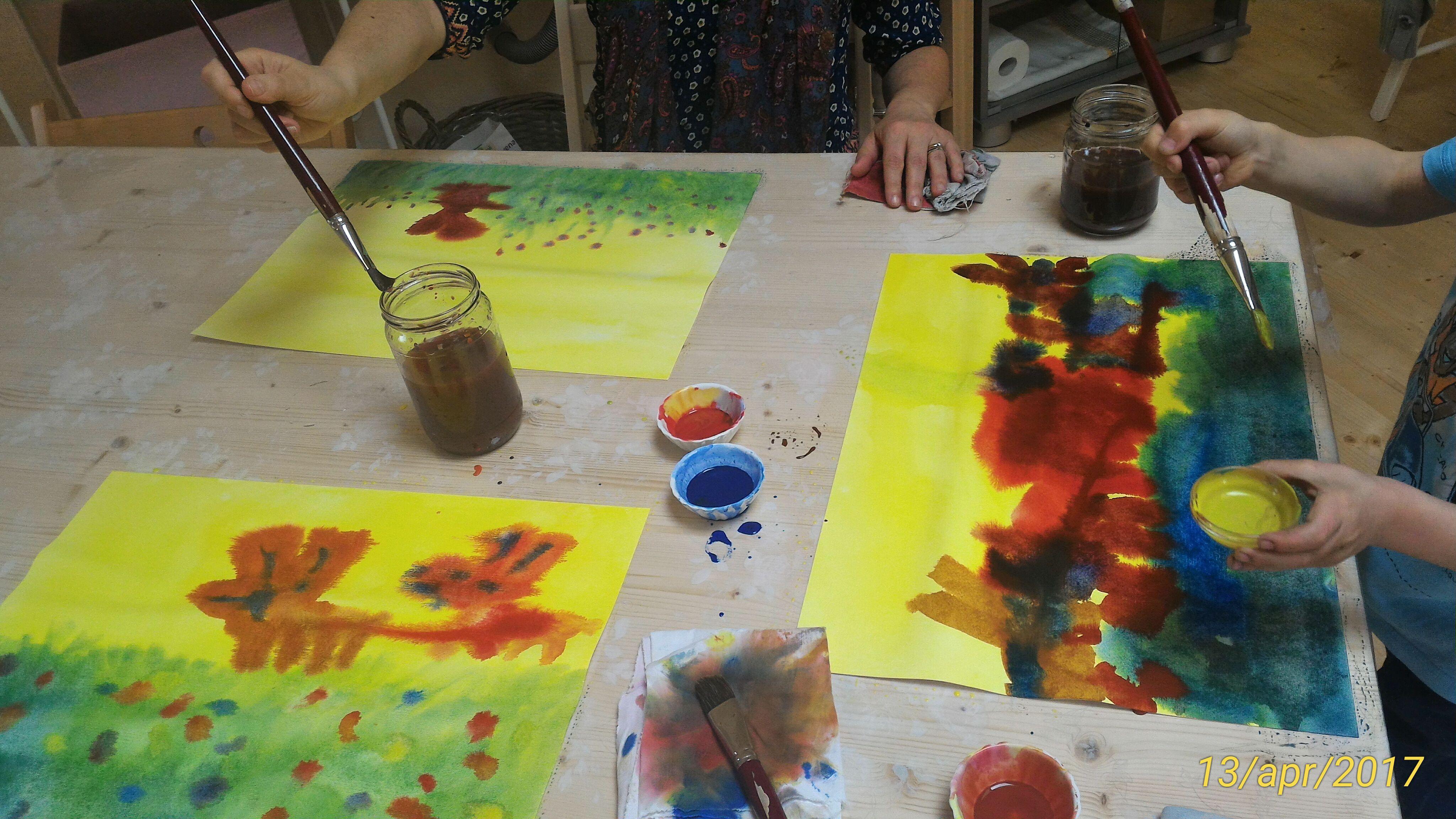 Dipingere con i nostri bambini